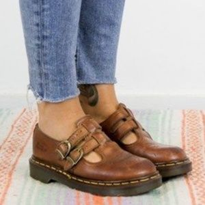 Dr. Martens vintage brown leather Mary Jane shoes